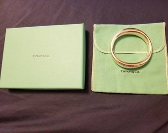 Rare Vintage Tiffany & Co 1970's Sterling Silver Mexico Bangle Bracelet