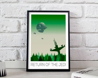 Star Wars Poster, Star Wars print, Star Wars art, Return of the Jedi poster, Star Wars wall art, Star Wars wall decor, Gift poster