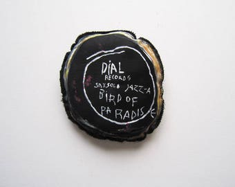 Jazz gift Basquiat black artist saxophonist Charlie Parker bird of paradise graffiti home decor wall urban art birthday play music man woman