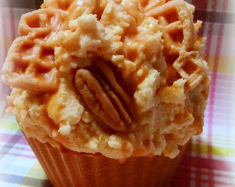 Jumbo Cupcake, Pumpkin Pecan Waffle,  Scented Soy Wax, Cupcake Candle, Creative Candles, Holiday Scents, Fall Autumn Scents, Gifts For Mom