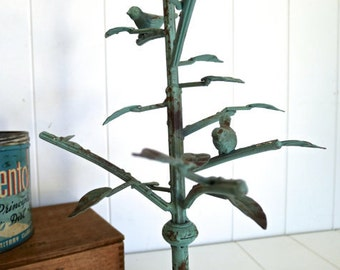 CLEARANCE Sale 1 New Bird Jewelry Stand Tree with branches and 2 birds and Patina Finish