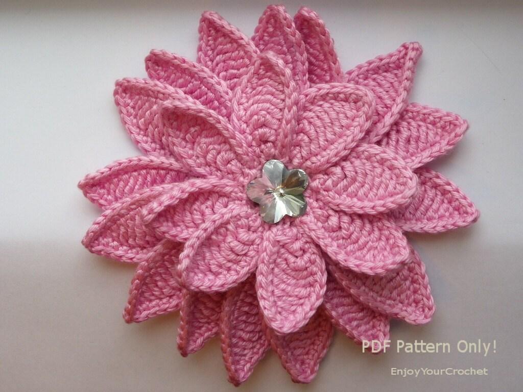 CROCHET FLOWER Flower Pattern Crochet Floral Pattern