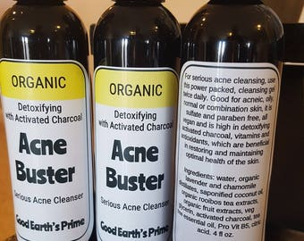 Acne Face Wash, Acne Body Wash, Acne Wash, Facial Acne Buster, organic, women or men's facial cleanser essential oils for acne, body wash
