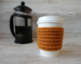 Coffee Cosy, Gold coloured,  Coffee Sleeve, Takeaway hot drink sleeve thing