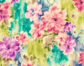 Quilting Treasures - Ariel - Watercolor Floral
