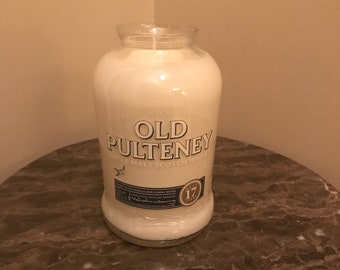 Old Pulteney 17 Yr Single Malt Scotch Whiskey Bottle Candle (17 Year Age Statement Discontinued!!!)