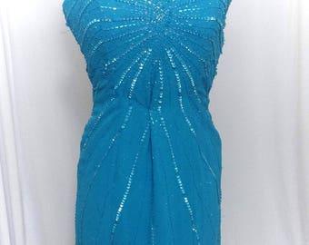 Mermaid style dress navy blue