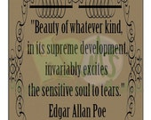 "Poe Quote Printable ~ ""Sensitive Soul"" Instant Digital Download"