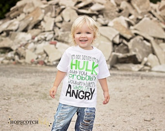 Hulk T-Shirt - Boys Funny Shirt - Toddler Boys Shirt