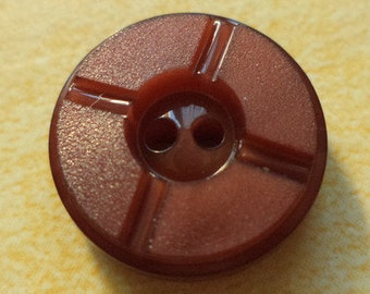 12 small buttons Brown 15 mm (54) Rusty Brown