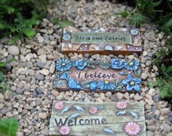 Fairy garden welcome mat, miniature garden welcome mat, fairy welcome, fairy garden miniature house, fairy house mat, miniature mat