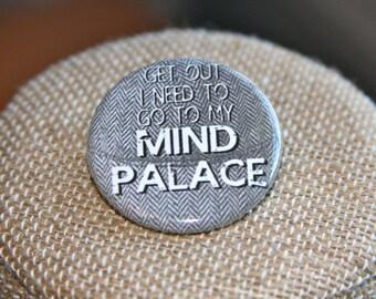 Sherlock Mind Palace Button, Sherlock Mind Palace Pin