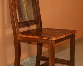 BARNWOOD DINING CHAIR - Barnwood Dining Chair - Reclaimed Wood Chair