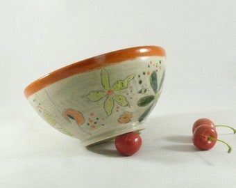 Ramen Bowl Ceramic Soup Bowl Pottery Salad Bowl Noodle bowl pho bowl Key Bowl Save the Bees Handmade Cereal Serving Bowl Ramekin