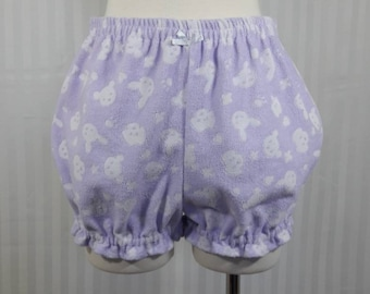 Purple bear bunny dog plush chenille fairy kei mini bloomers candy cakes sweet lolita adult--small to plus size