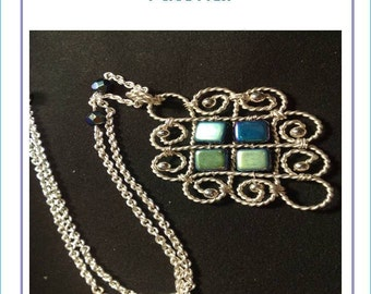 Step-by-Step pdf Tutorial - Twisted wire pendant
