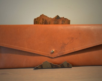 Horween Leather Envelope Clutch