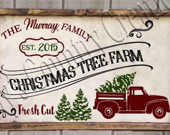 Christmas Tree Farm  (Name and date blank)   SVG, PNG, JPEG