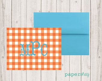 Personalized Stationery, Personalized stationary,  Monogram stationery, Monogram Note Cards, Personalized Notecards, Pineapple Tropical
