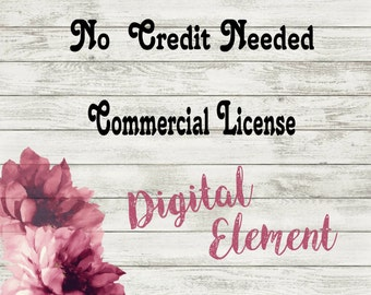 Commercial Use License: One Single Design Use -  (add-on- has to be purchased with the artwork)
