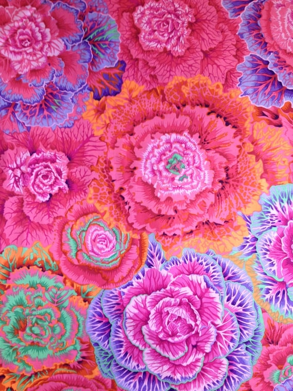 BRASSICA in RED Kaffe Fassett Sold in 1/2 yd increments