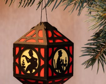 Christmas paper lantern in 8 colours and 4 motifs
