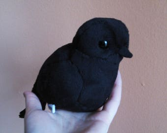 Crow / Raven Plush Doll - Black or Albino