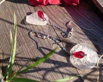 My Anthurium pierced earrings