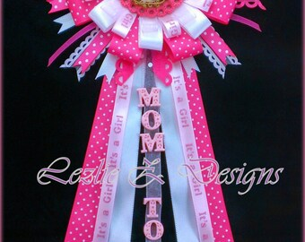 Baby Shower Corsage For Mom ~ Roses theme baby shower corsage safari girl pin mom to be