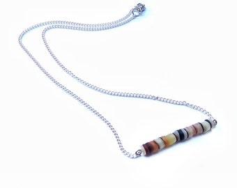 Seaglass Necklace -Minimalist Necklace, Dainty Necklace, Seaglass Jewelry, Beach Necklace, Beach Jewelry, Minimalist Jewelry, Dainty Jewelry