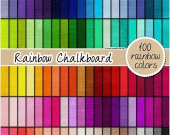 SALE 100 chalkboard digital paper colored chalkboard digital paper rainbow chalkboard texture scrapbooking printable 12x12 pastel neutral br