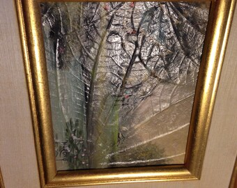 vintage painting/small painting/vintage Narong/landscape/home art/art