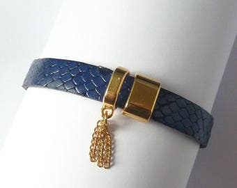 Bracelets for women - ROME - brand COCOLLANA from golden metal and leather