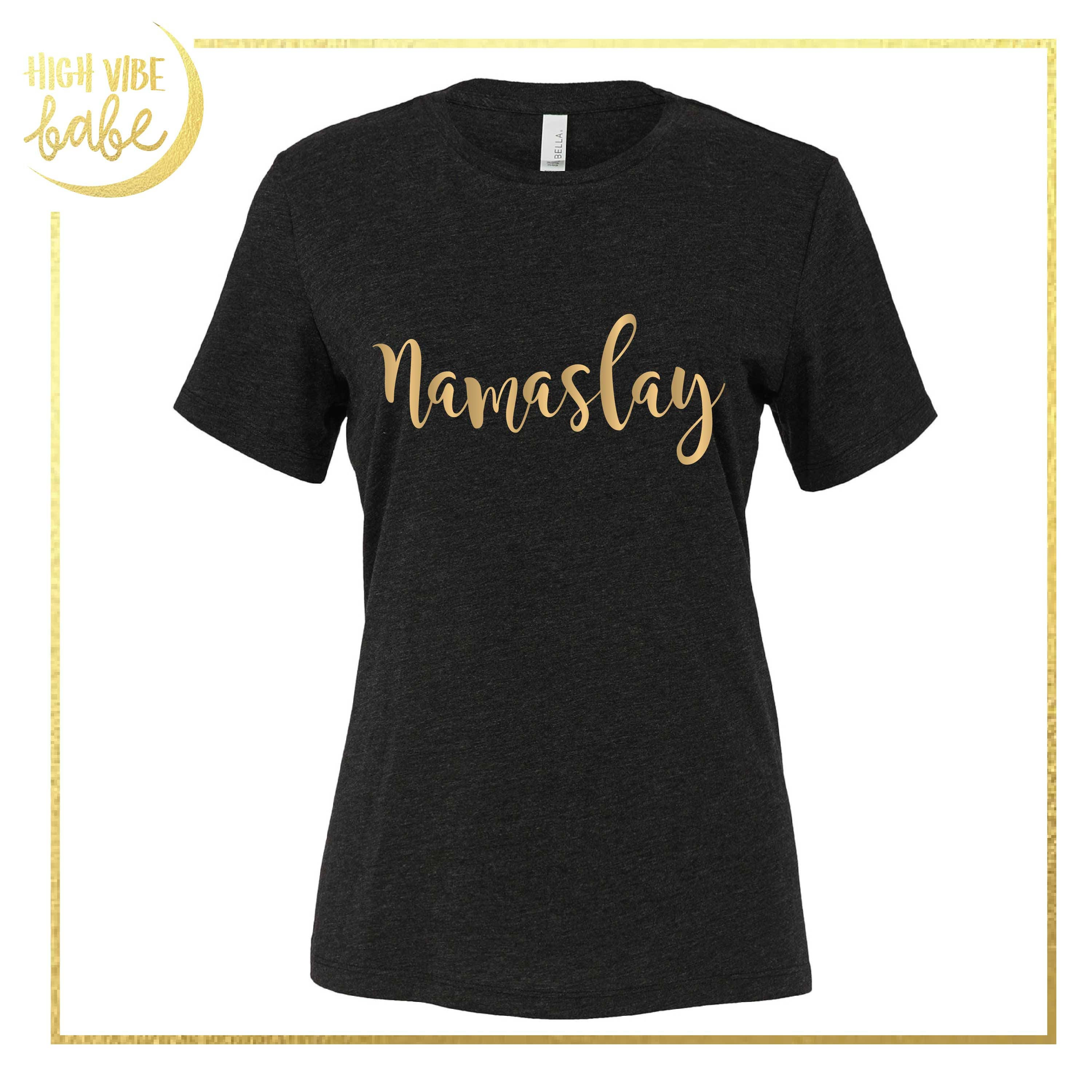 Namaslay namaste glitter rose gold t shirt gifts for zoom negle Image collections