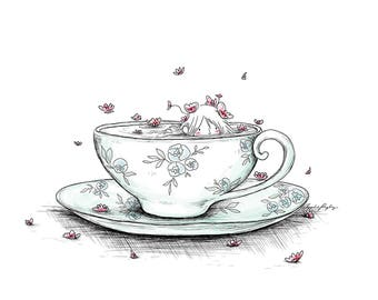 Tea Time -  8x10 ART PRINT