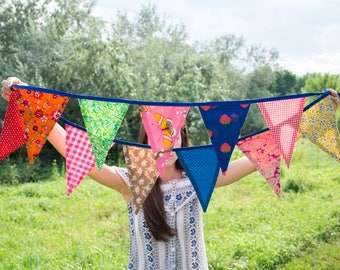 Celebration banners, pennant banner, fabric banners