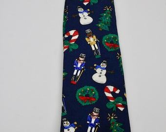 Vintage Christmas Silk Necktie