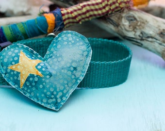 Heart Dog collar Accessory for Med to large dogs