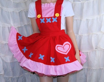 Reese Anime Cosplay Pinafore Apron Costume Skirt Adult ALL Sizes - MTCoffinz