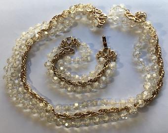 Sale Vintage Sarah Coventry Demi Parure Triple Strand Necklace Bracelet