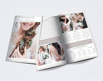 "Photography Bifold Brochure Template for Photoshop 001 - 8.5"" x 11"" - Photographer Template - Photography Template"