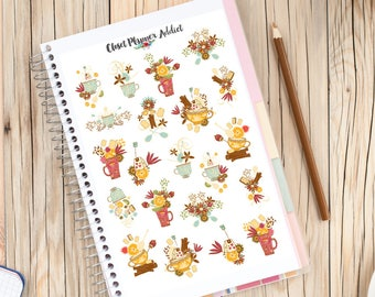 It's Teatime Planner Stickers | Teatime Stickers | Tea Stickers | Tea Addict | Flowers | High Tea Stickers | Floral Stickers (S-242)