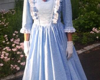 DAR 1776-colonial women dress costume pioneer dress civil war made to measurement choice of color