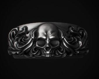 Rococo Skull Ring - Silver