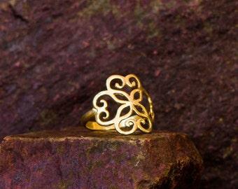18k gold Heart ring, Celtic ring, heart ring, love ring, valentines gift, Valentines ring, valentines jewelry, gift for her, heart ring