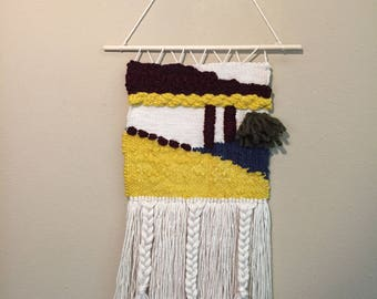 Yellow and Red Weaving Wall Hanging