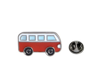 Red VW Van Lapel Pin