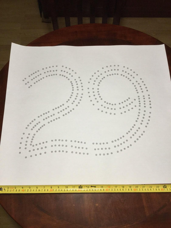 Große 29 Cribbage Board Loch Muster-Papier-Vorlage