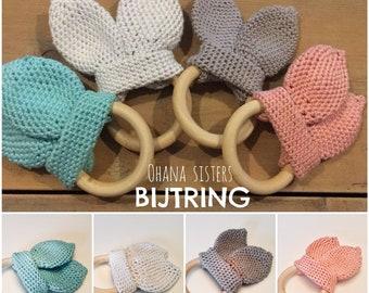 Biting ring with OHANA ears