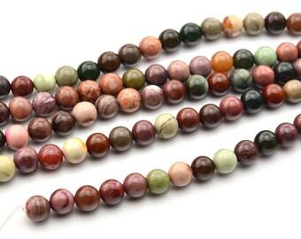 """16""""  Natural Jasper  Round  Beads-- 8mm"""